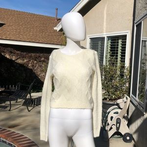 B.P White Crewneck Knit Sweater SzSM